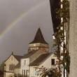 Payzac Church over the rainbow